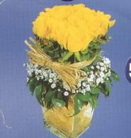 Konya internetten çiçek satışı  Cam vazoda 9 Sari gül