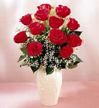 Konya İnternetten çiçek siparişi  9 adet vazoda özel tanzim kirmizi gül