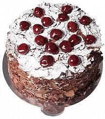 6 ile 9 kişilik Çikolatalı Vişneli yaş pasta