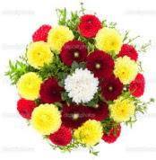 Konya İnternetten çiçek siparişi  13 adet mevsim çiçeğinden görsel buket