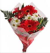 Mevsim çiçeklerinden görsel buket  Konya çiçek gönderme