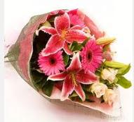 1 dal kazablanka ve mevsim çiçekleri  Konya çiçekçi telefonları