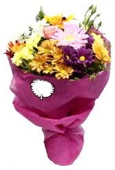 1 demet karışık görsel buket  Konya internetten çiçek satışı