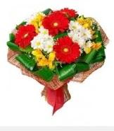 1 demet karışık buket  Konya çiçekçiler