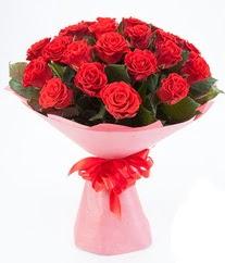 15 adet kırmızı gülden buket tanzimi  Konya çiçek gönderme sitemiz güvenlidir
