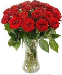 Konya online çiçek gönderme sipariş  Vazoda 15 adet kırmızı gül tanzimi