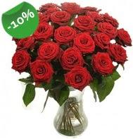 Vazo içerisinde 25 adet kırmızı gül  Konya ucuz çiçek gönder