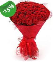 51 adet kırmızı gül buketi özel hissedenlere  Konya çiçek gönderme sitemiz güvenlidir