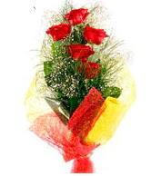 5 li kırmızı gül buketi  Konya çiçek yolla