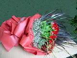 Konya kaliteli taze ve ucuz çiçekler  12 adet kirmizi gül elyafta