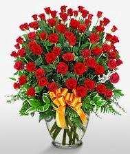 Görsel vazo içerisinde 101 adet gül  Konya ucuz çiçek gönder