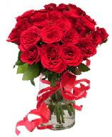 21 adet vazo içerisinde kırmızı gül  Konya güvenli kaliteli hızlı çiçek