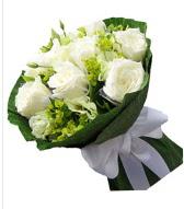9 adet beyaz gül buketi  Konya çiçek gönderme sitemiz güvenlidir