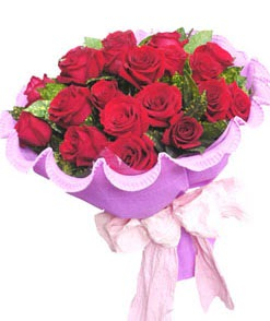 12 adet kırmızı gülden görsel buket  Konya İnternetten çiçek siparişi