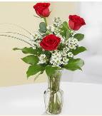 Vazo içerisinde 3 adet kırmızı gül  Konya güvenli kaliteli hızlı çiçek