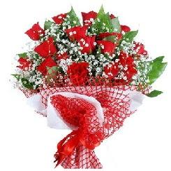11 kırmızı gülden buket  Konya çiçek siparişi sitesi