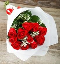 9 kırmızı gülden buket çiçeği  Konya çiçek mağazası , çiçekçi adresleri