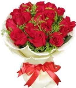 19 adet kırmızı gülden buket tanzimi  Konya çiçek siparişi vermek