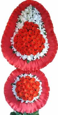 Konya çiçek , çiçekçi , çiçekçilik  Çift katlı kaliteli düğün açılış sepeti