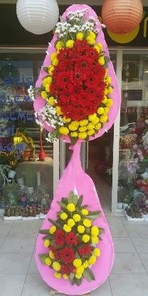 Çift katlı düğün nikah açılış çiçek modeli  Konya çiçek gönderme