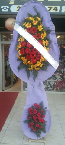 Çift katlı nikah düğüne çiçek modeli  Konya çiçekçi telefonları
