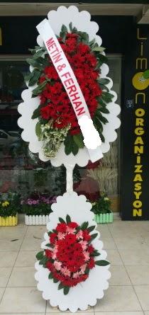 Çift katlı düğün nikah çiçeği modeli  Konya çiçek gönderme sitemiz güvenlidir