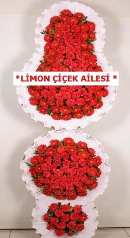 3 katlı kırmızı düğün açılış çiçeği  Konya çiçek mağazası , çiçekçi adresleri