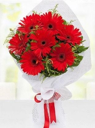 Kırmızı Gelbera Buketi  Konya çiçekçi telefonları