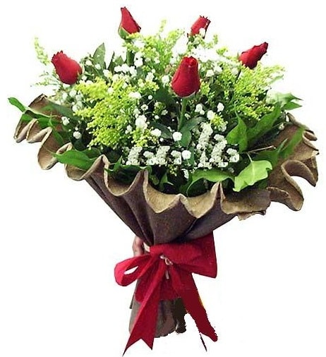 5 adet gülden buket  Konya çiçek online çiçek siparişi