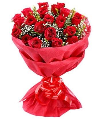 21 adet kırmızı gülden modern buket  Konya çiçek mağazası , çiçekçi adresleri