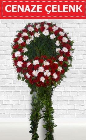 Kırmızı Beyaz Çelenk Cenaze çiçeği  Konya hediye sevgilime hediye çiçek