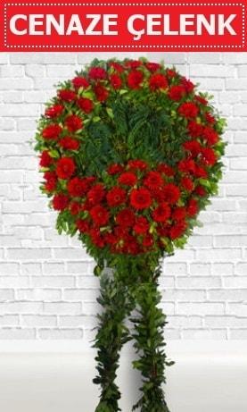 Kırmızı Çelenk Cenaze çiçeği  Konya hediye sevgilime hediye çiçek