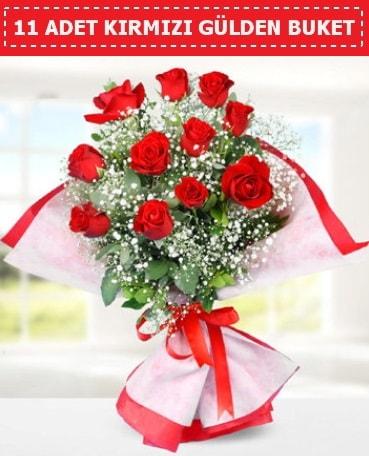 11 Adet Kırmızı Gül Buketi  Konya çiçekçi telefonları
