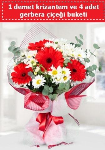 Krizantem ve Gerbera Buketi  Konya çiçek gönderme sitemiz güvenlidir