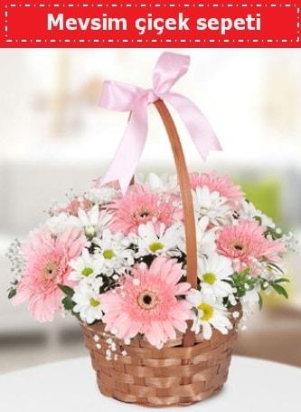 Mevsim kır çiçek sepeti  Konya yurtiçi ve yurtdışı çiçek siparişi