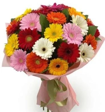 Karışık büyük boy gerbera çiçek buketi  Konya güvenli kaliteli hızlı çiçek