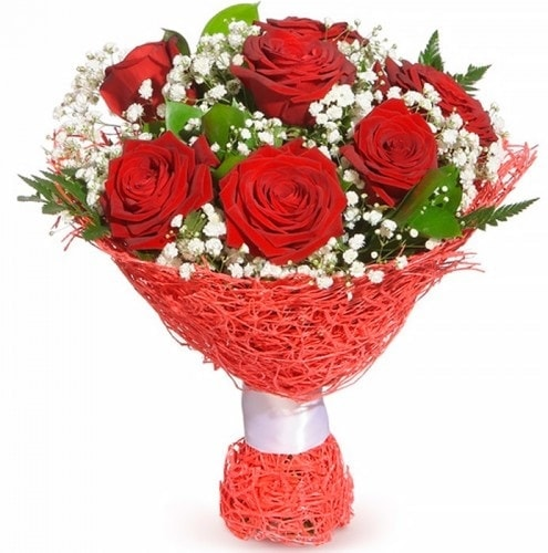 7 adet kırmızı gül buketi  Konya çiçek gönderme